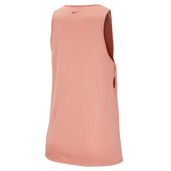 Nike Womens Yoga Training Tank, Pink, rebel_hi-res
