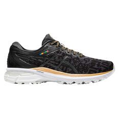 Asics GT 2000 8 EDO Era Womens Running Shoes Black/Grey US 6, Black/Grey, rebel_hi-res