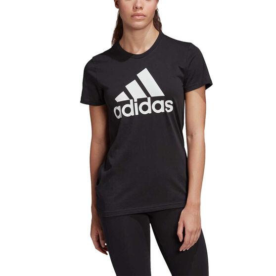 adidas Womens Must Haves Badge of Sport Tee, Black, rebel_hi-res