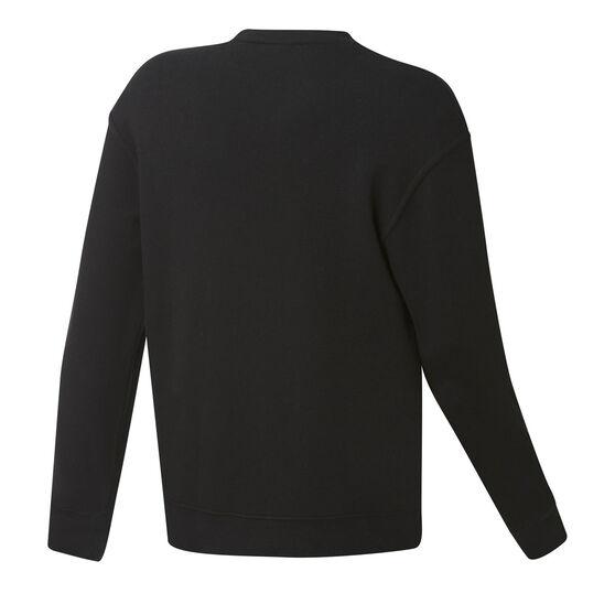 Brooklyn Nets Mens Fleece Crew Sweatshirt, Black, rebel_hi-res