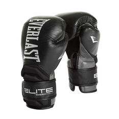 Everlast Contender Elite Training Boxing Gloves Black 12 oz, Black, rebel_hi-res