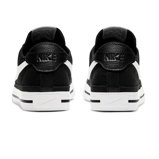 Nike Court Legacy Canvas Womens Casual Shoes, Black/White, rebel_hi-res