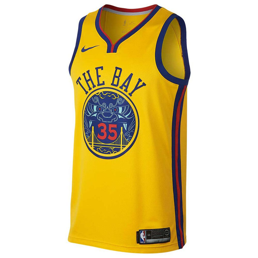f63f78c66b4 Nike Golden State Warriors Kevin Durant City 2018 Mens Swingman Jersey  Yellow M