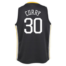 Nike Golden State Warriors Steph Curry 2019 Kids Statement Jersey Blue / Gold S, Blue / Gold, rebel_hi-res