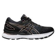 Asics GEL Nimbus 22 Knit Womens Running Shoes Black US 6, Black, rebel_hi-res