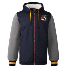 Adelaide Crows Mens Sideline Jacket Blue S, Blue, rebel_hi-res