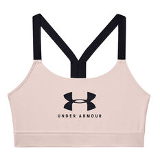 Under Armour Womens Mid Sportstyle Graphic Sports Bra Pink XS, Pink, rebel_hi-res