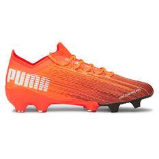 Puma Ultra 1.1 Football Boots Orange/Black US Mens 7 / Womens 8.5, Orange/Black, rebel_hi-res