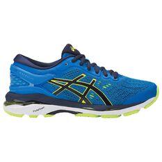 Asics Gel Kayano 24 Kids Running Shoes Blue / Yellow US 4, Blue / Yellow, rebel_hi-res