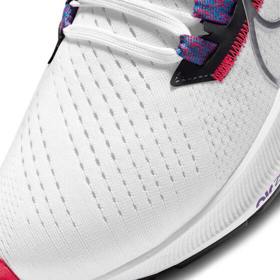Nike Air Zoom Pegasus 38 Womens Running Shoes, White/Black, rebel_hi-res