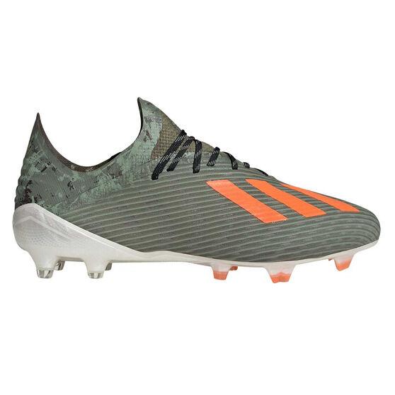 adidas X 19.1 Football Boots Green / Orange US Mens 9 / Womens 10, Green / Orange, rebel_hi-res