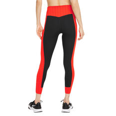 Nike One Womens Dri-FIT One Luxe Icon Clash Tights Black XS, Black, rebel_hi-res