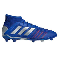 adidas Predator 19.1 Kids Football Boots Blue / Silver US 11, Blue / Silver, rebel_hi-res