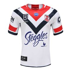 Sydney Roosters 2020 Mens Away Jersey White / Red S, White / Red, rebel_hi-res