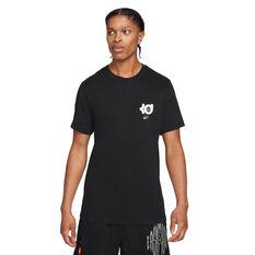 Nike Mens Dri-FIT KD Logo Basketball Tee Black S, Black, rebel_hi-res