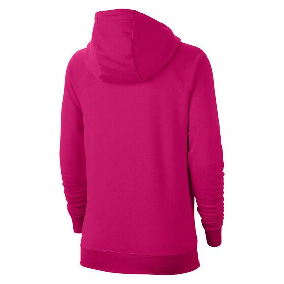 Nike Womens Sportswear Essentials Full Zip Hoodie, Pink, rebel_hi-res