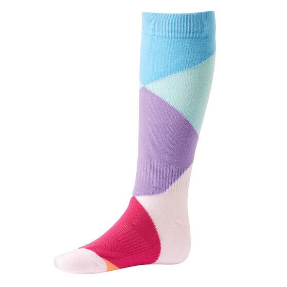 Tahwalhi Kids Colour Block Ski Socks, , rebel_hi-res