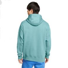Nike Sportswear Mens Club Fleece Pullover Hoodie Green XS, Green, rebel_hi-res