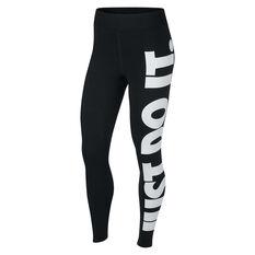 Nike Womens Leg A See Just Do It Tights Black XS, Black, rebel_hi-res