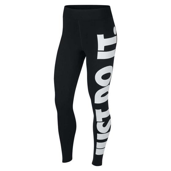Nike Womens Leg A See Just Do It Tights, Black, rebel_hi-res