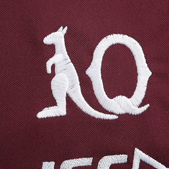 QLD Maroons State of Origin 2020 Mens Performance Polo, Maroon, rebel_hi-res