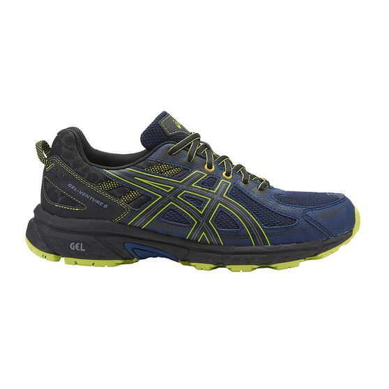 7331c6d7e502 Asics GEL Venture 6 Mens Trail Trail Running Shoes Black   Grey US 7 ...