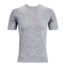 Under Armour Mens Run Anywhere Tee Grey S, Grey, rebel_hi-res