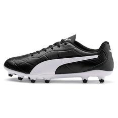 Puma Monarch Football Boots Black US Mens 7 / Womens 8.5, Black, rebel_hi-res