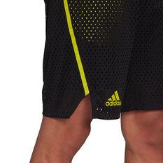 adidias Mens Primeblue Shorts, Black, rebel_hi-res