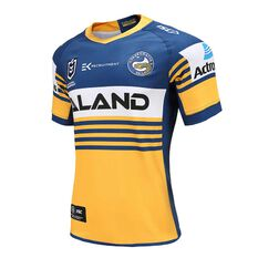 Parramatta Eels 2020 Mens Home Jersey Yellow / Blue S, Yellow / Blue, rebel_hi-res