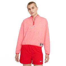 Nike F.C. Dri-FIT Womens 1/4 Zip Midlayer Football Top Red XS, Red, rebel_hi-res