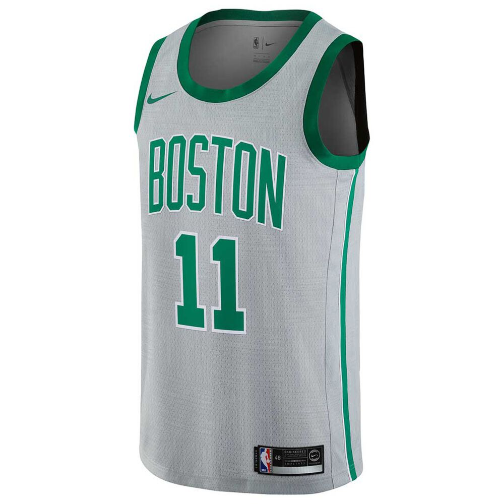 80420532cade Nike Mens Boston Celtics Kyrie Irving City 2018 Mens Swingman Jersey Silver  S