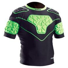 Steeden Viper Shoulder Guards Black/Green XS Boys, Black/Green, rebel_hi-res