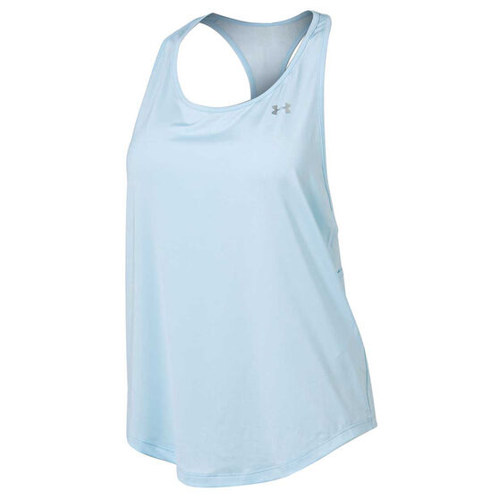 Under Armour Womens Mesh Back Tank Silver XL, Silver, rebel_hi-res
