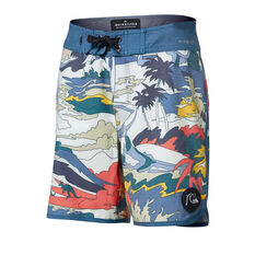 Quiksilver Boys Highline Feeling Fine 15in Boardshorts Print 10, Print, rebel_hi-res