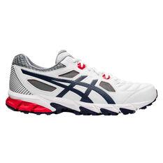 Asics Gel Trigger 12 Mens Cross Training Shoes White / Blue US 7, White / Blue, rebel_hi-res