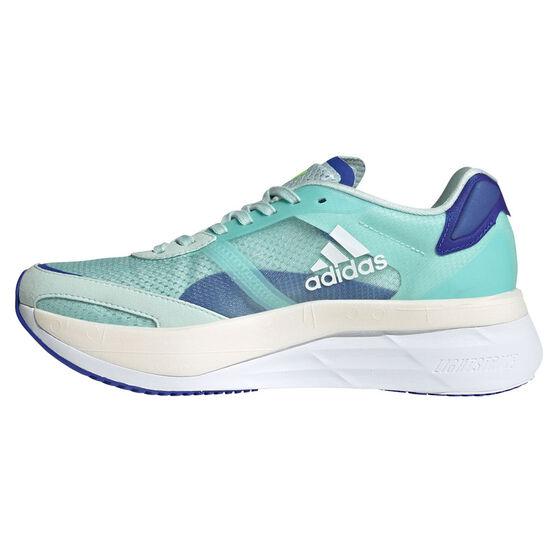 adidas Adizero Boston 10 Womens Running Shoes, Mint/White, rebel_hi-res