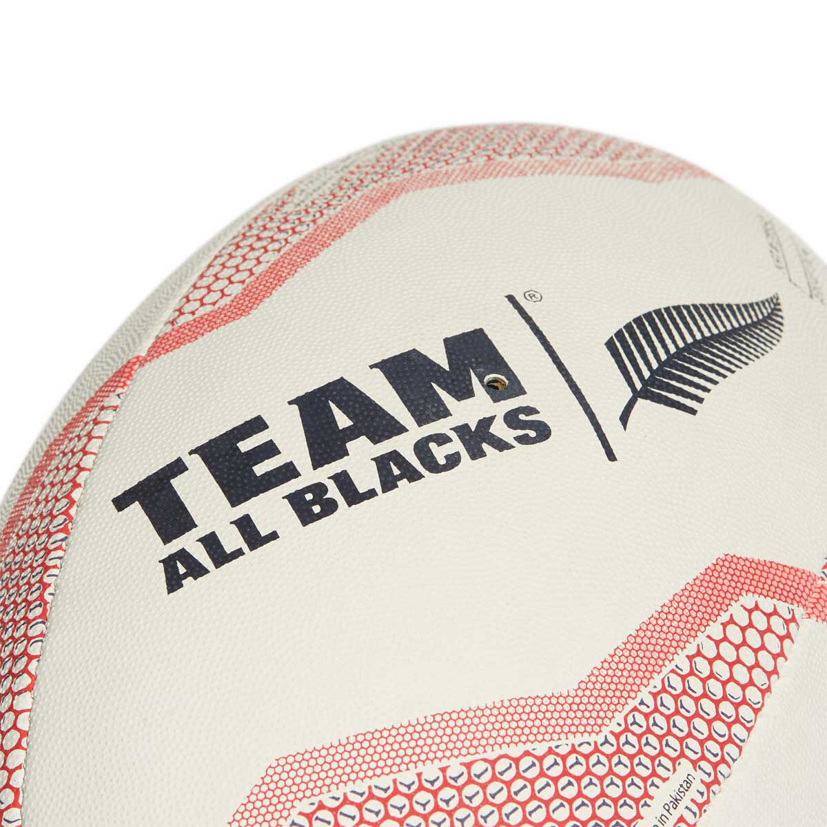 adidas New Zealand Rugby Union Ball White Red 5 | Rebel Sport