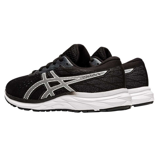 Asics GEL Excite 7 Kids Running Shoes, Black / White, rebel_hi-res