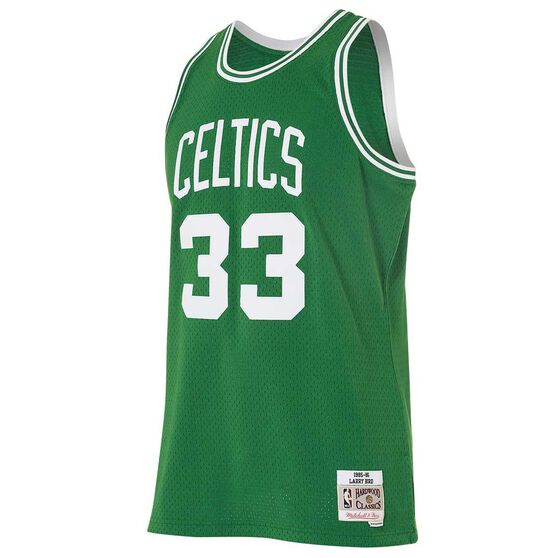 quality design 88b41 bdfd3 Mitchell and Ness Boston Celtics Larry Bird Mens Swingman Jersey S