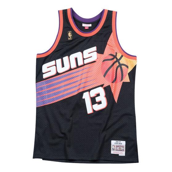 Pheonix Suns 1996/97 Steve Nash Mens Road Swingman, Black, rebel_hi-res