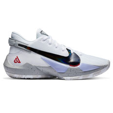 Nike Zoom Freak 2 Mens Basketball Shoes White/Red US 7, White/Red, rebel_hi-res