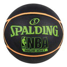 Spalding Outdoor Neon Highlight Basketball Black / Orange 7, , rebel_hi-res