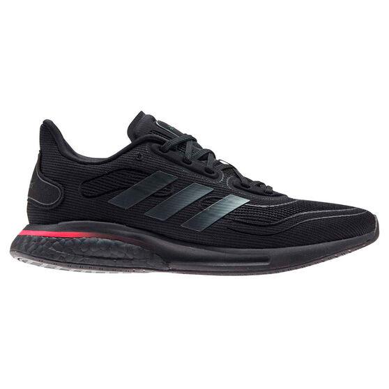 adidas Supernova Womens Running Shoes, Black/Pink, rebel_hi-res