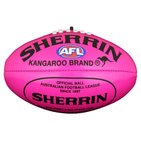 Sherrin Soft Touch Mini Australian Rules Ball  Pink 6in, , rebel_hi-res