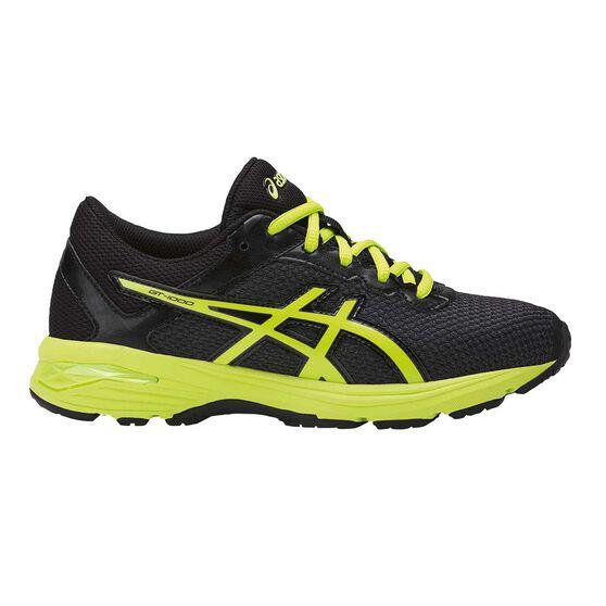 13849da55049 Asics GT 1000 6 Kids Running Shoes Black   Yellow US 1
