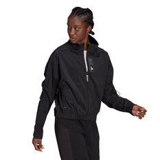 adidas Womens Sportswear Primeblue Jacket Black XS, Black, rebel_hi-res