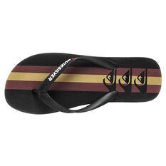 Quiksilver Molokai Arch Mens Thongs, Black/Brown, rebel_hi-res