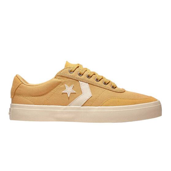 Converse Courtlandt Ox Mens Casual Shoes, White / Gold, rebel_hi-res