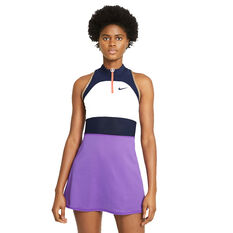 NikeCourt Womens Slam Tennis Dress White XS, White, rebel_hi-res